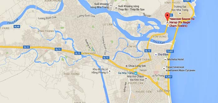 карта с достопримечательностями Вьетнама