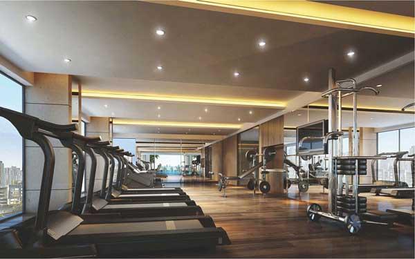 фитнесс зал в отеле Dendro Gold Hotel
