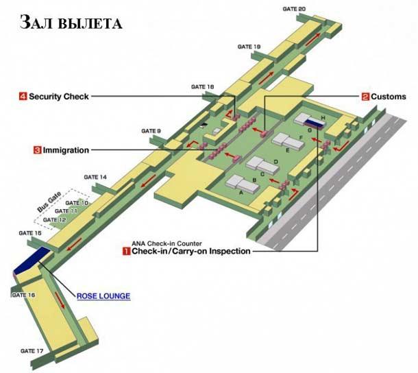 Схема аэропорта в Хошимине