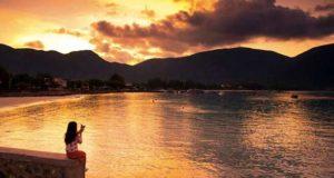 Закат на острове Кондао