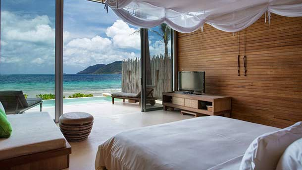 Топовый отель  на острове Six Senses Con Dao вид внутри номера