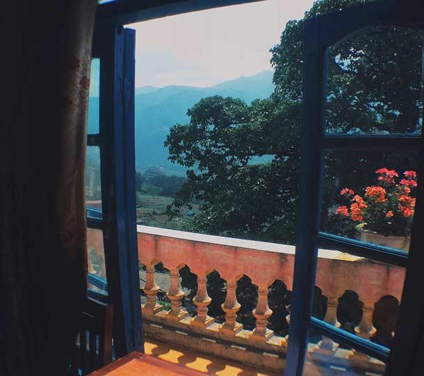 Вид из хостела Green Valey