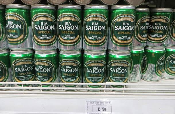 Пиво Saigon во Вьетнаме