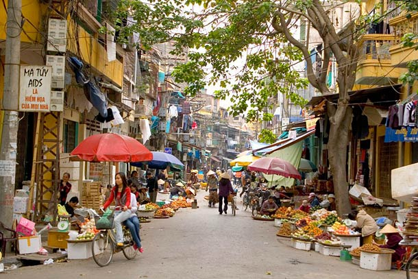 Улицы Хайфона во Вьетнаме