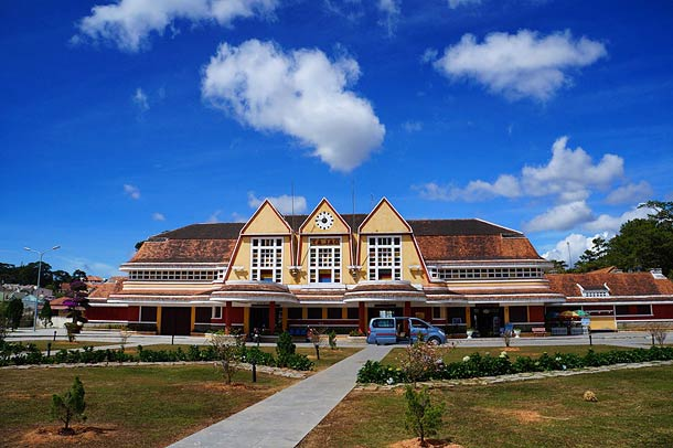 Железнодорожный вокзал в Далате