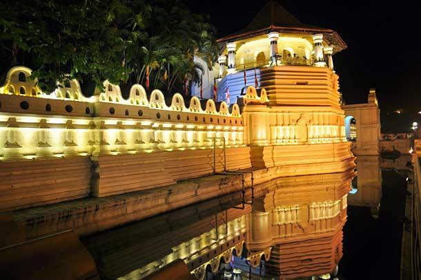 Королевский дворец в Канди в Шри-Ланке