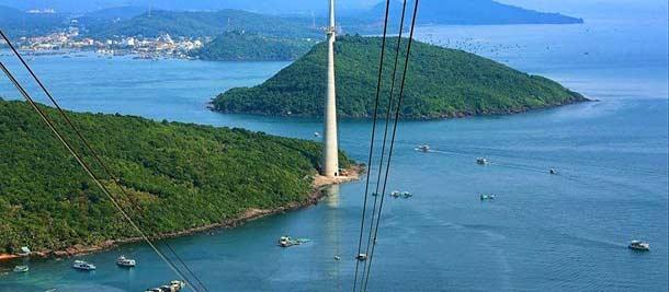 Остров Фукуок, канатная дорога