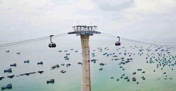 Самая длинная канатная дорога во Вьетнаме