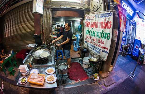 Уличный фаст-фуд во Вьетнаме